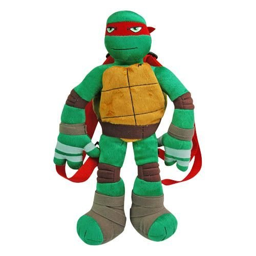 Teenage Mutant Ninja Turtle Red Raphael Full Body Plush Backpack Doll Figure Bag