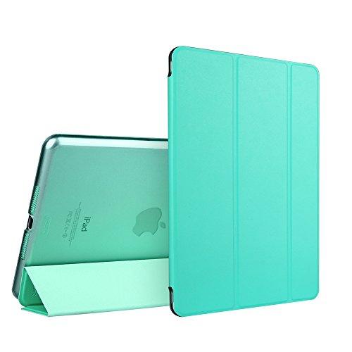 iPad Mini Case, ESR Tri-fold Case iPad Mini Slim Fit PU Leather Case with Smart Cover and Translucent Back for Apple iPad Mini 1 / iPad Mini 2 / iPad Mini 3 (Mint Green)