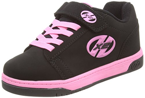 HeelysDual Up 770231 - Sneakers da ragazza' , Multicolore (Multicoloured (Black/Pink)), 34