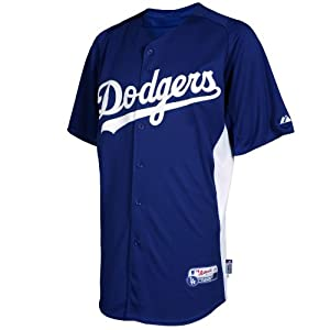 MLB Los Angeles Dodgers Youth Matt Kemp 27 Cool Base Batting Practice Jersey, Royal... by Lee Sports