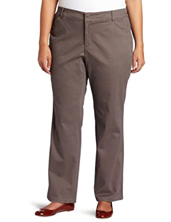 Dockers Women's Plus-Size The Khaki Pant with Hello Smooth, Smokey Slate, 24 Medium
