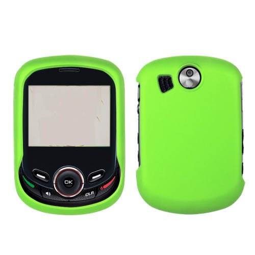 Case+Film+Opener, Hard Plastic Snap On Cover Fits Pantech Txt8045 Jest 2 Solid Neon Green (Rubberized) + Lcd Screen Protective Film + Clipper Open Tool Verizon (Please Carefully Check Your Device Model To Order The Correct Version.)