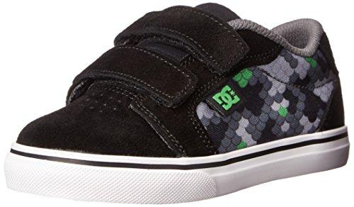 DC Anvil V Youth Vulcanized Shoes Skate Shoe (Toddler/Little Kid/Big Kid), Black/Graffiti Print, 5 M US Toddler