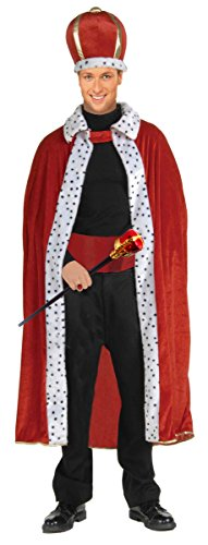 [Regal King Robe, Crown and Royal Scepter Costume and Accessories Set by Express Novelties Online] (Red And White Queen Costumes)