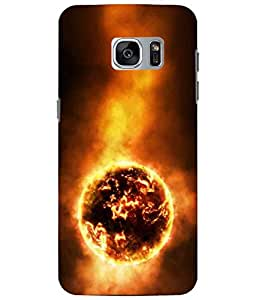 Case Cover Sun Printed Yellow Soft Back Cover For Samsung Galaxy S7 EDGE