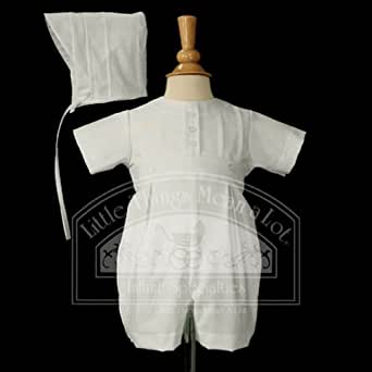 Baby Boys White Round Collar Baptism Outfit Set 3M