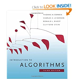 Introduction to Algorithms, Second Edition Charles E. Leiserson, Clifford Stein, Ronald L. Rivest, Thomas H. Cormen