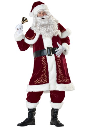 Incharacter Mens Santa Claus Jolly Ol' St. Nick Christmas Holiday Costume