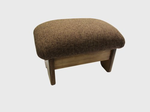 Padded Foot Stool Cocoa Brown 9