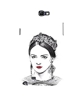 EPICCASE Lovely Lady with Crown Mobile Back Case Cover For Samsung Galaxy Note 2 (Designer Case)