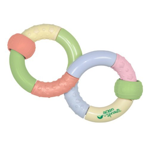 green sprouts Infinity Teether Rattle,2-Pack