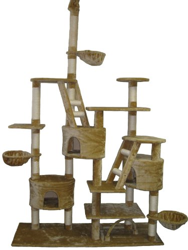 Go Pet Club Cat Tree, 106-Inch, Beige
