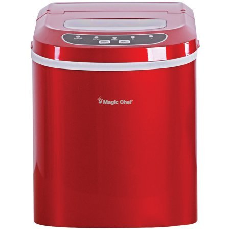 Magic Chef Portable Countertop Ice Maker, Red (Magic Chef Wine Refrigerator compare prices)