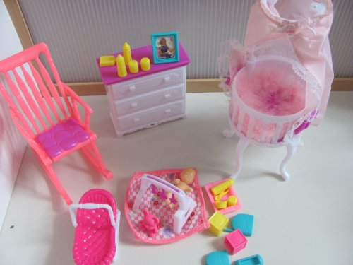 NEW Barbie Size Dollhouse Furniture Baby Room