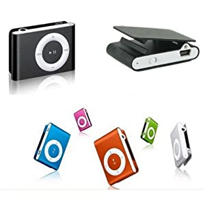 Mini Clip MP3 Player for 2GB 4GB 8GB Micro SD Card Black