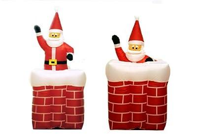 animierter Weihnachtsmann im Kamin aufblasbar bei aufblasbar.de