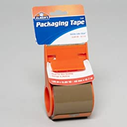 Elmer\'S Packaging Tape With Dispenser (Tan) (48 Pieces) - Elmer\'S Packaging Tape Tan 1.89 X 13.89 In. With Dispensersize: 1.89 X 13.89 In.Color: Tan