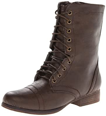 Madden Girl Women's Gamer Lace-Up Boot, Brown Paris,6.5 M US