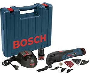 Bosch PS50-2B 12-Volt Max Lithium-Ion Multi-X Oscillating Tool Carpenter Kit with 2 Batteries, Charger and Case