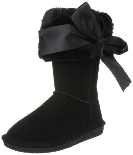 Bearpaw Women's Sasha Black Fur Trimmed Boot 1326W 5 UK