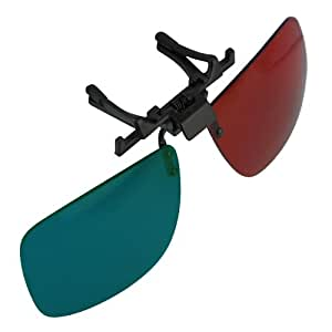 3D Glasses Direct-Clip On 3D Glasses for 3D Movies, DVD's and Gaming that Require Red/Cyan Lenses