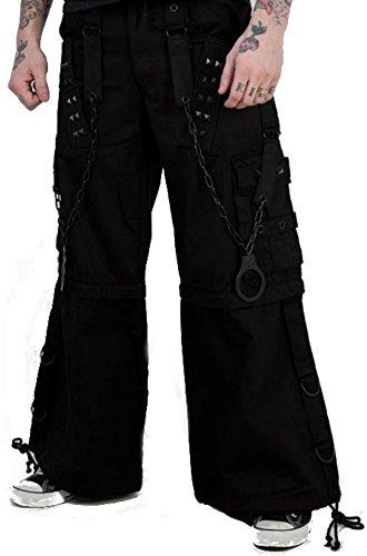 Tripp Gothic Techno Rave Skater Cyber Goth Metal Rocker Baggy Jeans Pants (M – 34″)