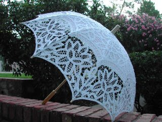 White Fashion Cotton Umbrella