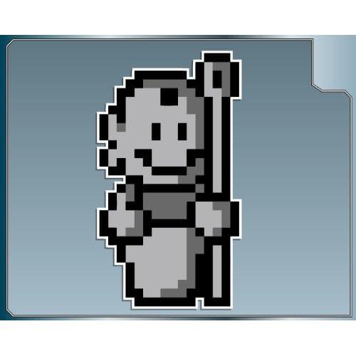 com: Tanooki Statue 8 bit from Super Mario Bros. 3 vinyl decal sticker