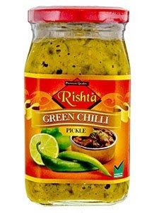 Green Chilli Pickle 400g *FREE U.K POST* CHILLI CHUTNEY INDIAN SPICY CHILLI PICKLE PICKLES