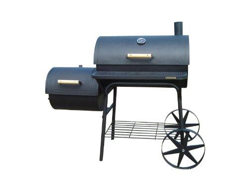 XXL 90kg-Smoker mit NYLON-ABDECKPLANE BBQ GRILLWAGEN Holzkohle Grill Grillkamin 3,5 mm Stahl PROFI-QUALITÄT günstig
