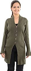 Apsley Women's Acrylic Cardigan (651 mouse_XL, Brown, XL)