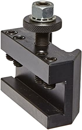 "Dorian Tool QITPN-1 Square Shank Chromium Molybdenum Alloy Steel Quick Change Turning and Facing Toolholder for QITP25N Quadra Indexing Quick Change Tool Post, 1/2"" - 3/4"" Tool Capacity, 2-3/4"" Width, 1-15/64"" Height"