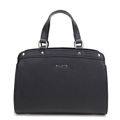 Fashion Geniune Leather Clutch Cross-Body Shoulder Handbag 010710 (Black)