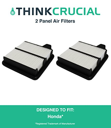 "2 Premium Panel Air Filter, Fits Honda Fit, Maximum Air Flow, 2.25"" x 6.54"" x 6.97"" in., Part # A26052 & # CA10650, by Think Crucial"