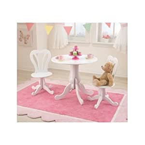 kids table and chairs white childrens set furniture decor. Black Bedroom Furniture Sets. Home Design Ideas