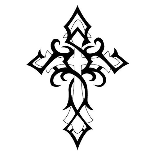 Original Fashiontats Metallic Gold Jewelry Temporary Tattoos - Tribal Cross by Fashiontats