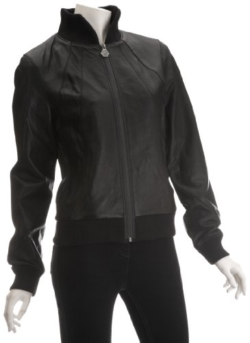 Puma Women's Puma Rudolf Dassler Leather Jacket Dassler Black 552600-01 Large