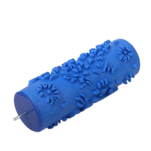 15cm Wall Decoration Empaistic Rose Flower Pattern Painting Roller for Decoration Machine - Blue