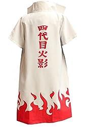 Naruto 4th Hokage Namikaze Minato cloak Cosplay Costume Customized Any Size