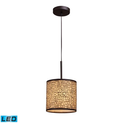 Medina 1-Light Pendant In Aged Bronze - Led Offering Up To 800 Lumens (60 Watt Equivalent) With Full Range Dimming. Includes An Easily Replaceable Led Bulb (120V).