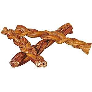 7 braided bully sticks for dogs 100 pack natural bulk dog dental treats. Black Bedroom Furniture Sets. Home Design Ideas