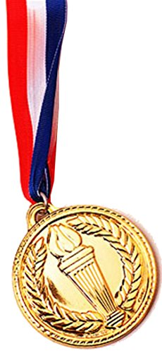"2"" Costume Accessory Olympic Style Plastic Gold Medal"