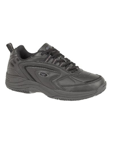 Mens Hi-Tec Blast Shoe Pu Rubber Sole Lace-Up Black