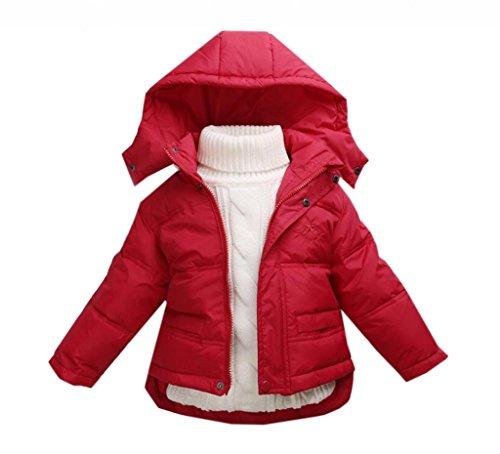 La vogue Rot Kinder Baby Daunen Mantel Jacke Winterjacke Mantel S