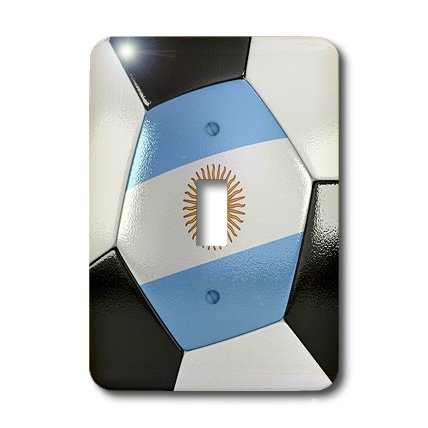 Lsp_181208_1 Carsten Reisinger - Illustrations - Argentina Soccer Ball - Light Switch Covers - Single Toggle Switch
