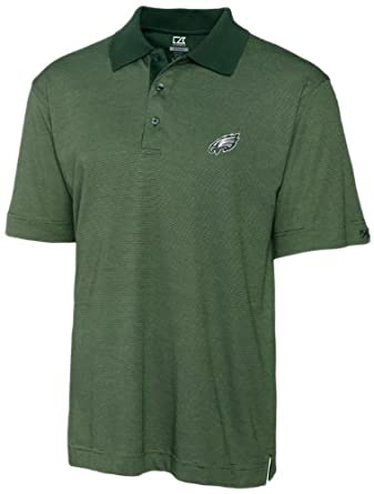 NFL Philadelphia Eagles Mens DryTec Resolute Polo Knit Short Sleeve Top by Cutter & Buck
