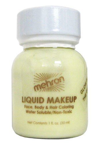 Mehron Liquid Face and Body Painting Makeup (1 Ounce, Glow-in-the-dark)