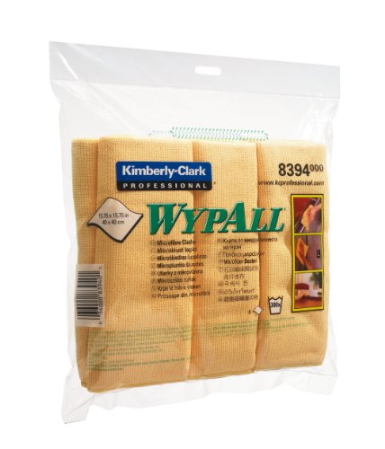 wypall-microfibre-cleaning-cloths-for-dry-or-damp-multisurface-use-yellow-ref-8394-pack-of-6