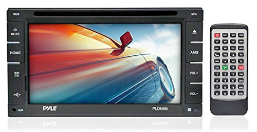 Pyle PLDN66I - 6.5-Inch Double DIN Touch Screen LCD Monitor Receiver with USB/SD Card Readers, CD/DVD Player, AM-FM (2006 Honda Civic Center Console compare prices)