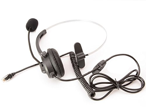 Farmunion Call Service Headset with Adjustable Boom Mic 4-pin Rj9 Modular Connector for Telephone /Ip Phone Nortel Networks (Northern Telecom) Packet 8 Phones Polycom Safecom Shoretel (Nortel Phone Accessories compare prices)